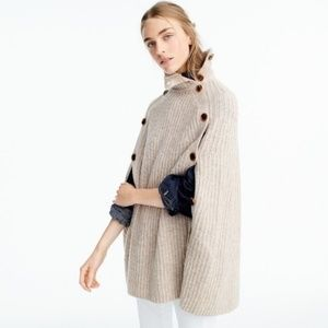 J.Crew Convertible sweater cape Heather Sandstone